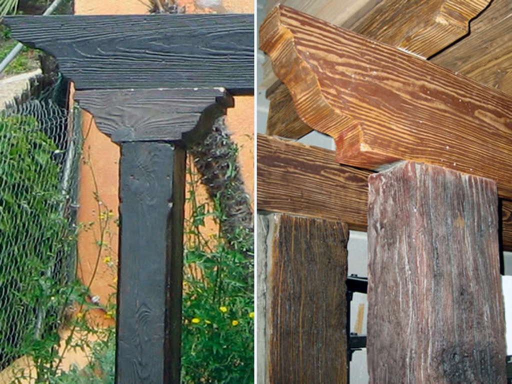 Moldes columna imitaci n madera decomol bdn s l - Vigas de hormigon imitacion madera ...