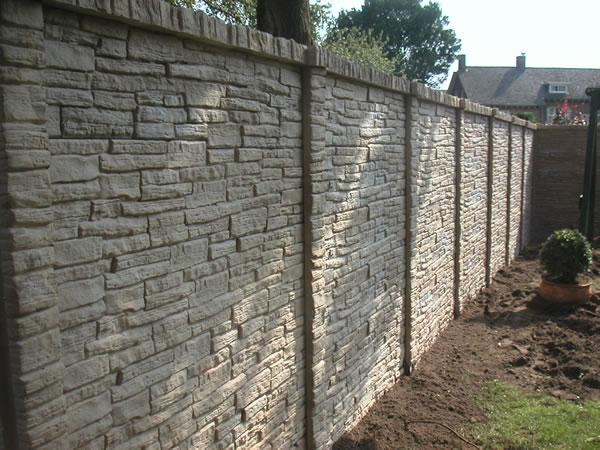 Moldes para vallas de hormig n decomol bdn s l - Imitacion a piedra para paredes ...