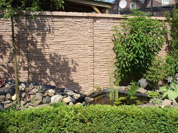 Jardineras de piedra natural jardinera piedra natural ladrillo de piedra natural labrada con - Vallas de piedra ...